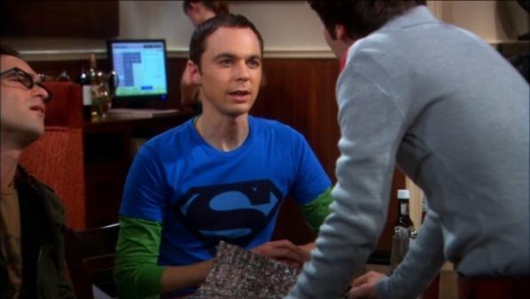 Sheldon Cooper's blue Superman shield shirt from The Big Bang Theory