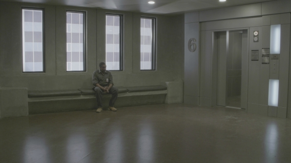 Dr. Lewis' father waits in the BAU lobby.