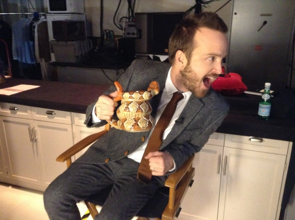Aaron Paul - Behind the Scenes at The Late Late Show