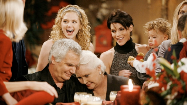 Things are merry and bright during B&B's 2007 holiday episode.