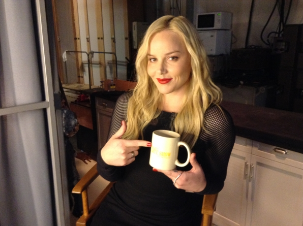 Abbie Cornish - Behind the Scenes at The Late Late Show