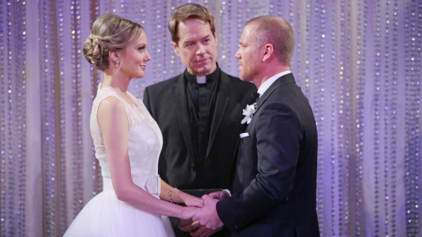 Abby and Stitch got married on The Young and the Restless.