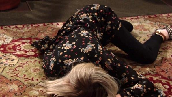 Abby tumbles