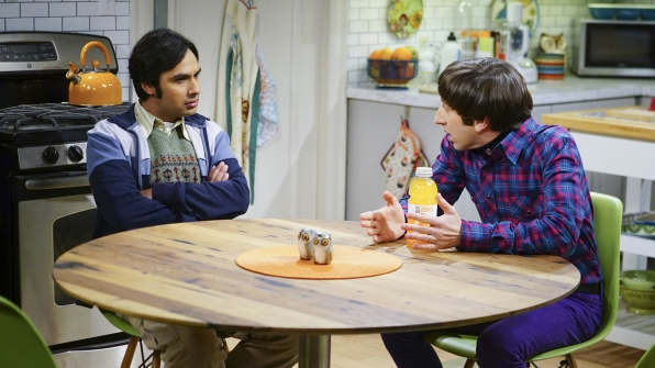 Howard explains his newest baby-related predicament to Raj.