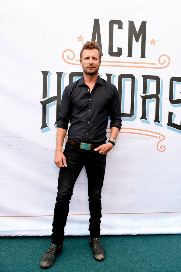 Dierks Bentley's outfit matched his album title by wearing all black.