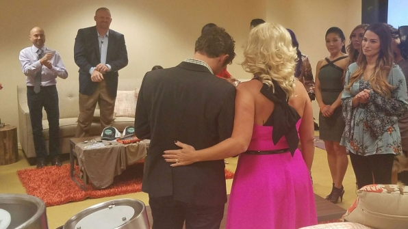 The cast honored Adam and his mother with personalized bracelets.