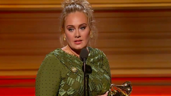 Adele wins Record Of The Year at the 2017 GRAMMY Awards