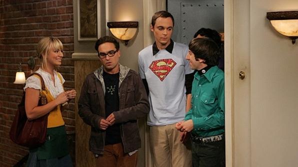 Sheldon Cooper's light blue Superman logo shirt from The Big Bang Theory