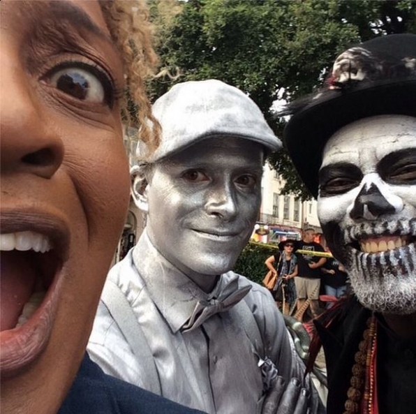 NCIS New Orleans Instagram:  Behind-the-scenes before Silver Man and Voodoo Man rumble!! - CCH Pounder #NCISNOLA #CBSInstagramTakeover