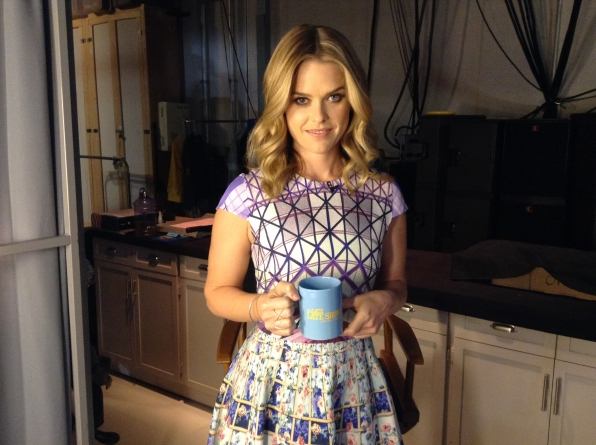 Alice Eve - Behind the Scenes at The Late Late Show