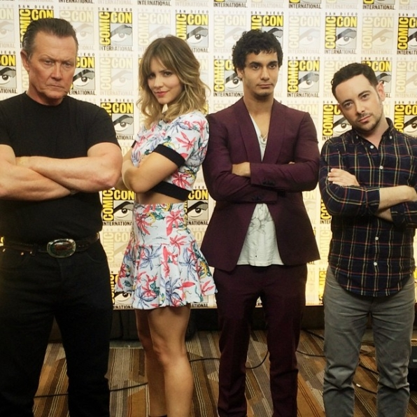 5. Host Andrew Freund Gets Serious with the Cast of Scorpion