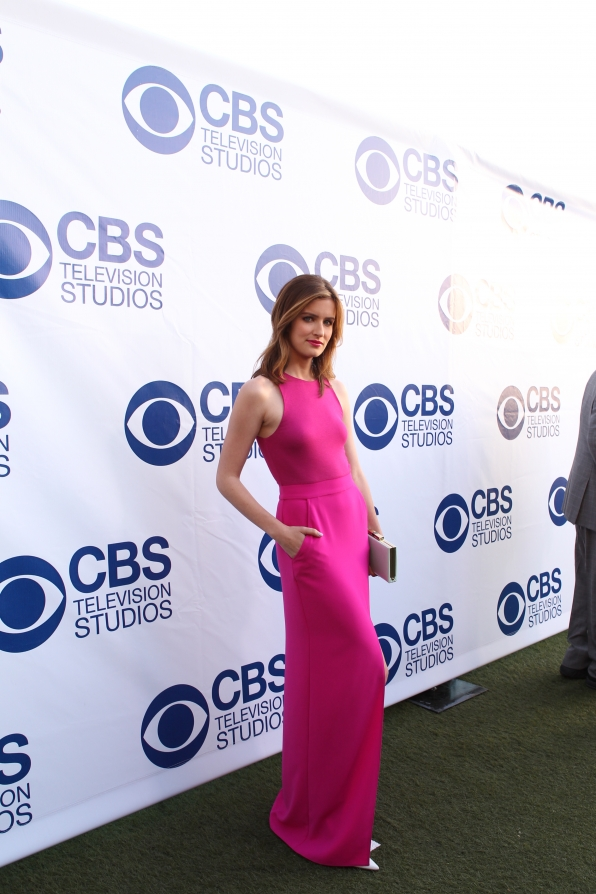 Anna Wood on the CBS Summer Soiree Red Carpet