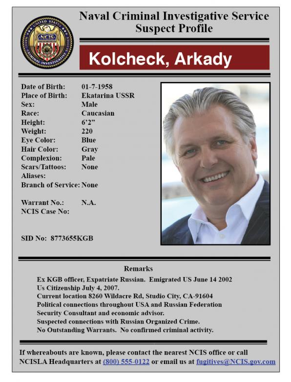 Arkady's file.