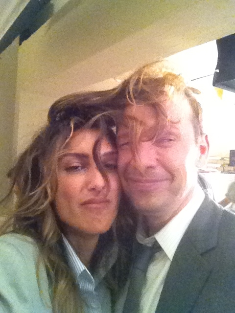 Jennifer Esposito Tweets On the Set