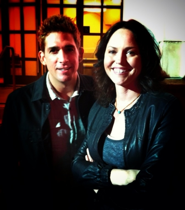 Eric Szmanda and Jorja Fox
