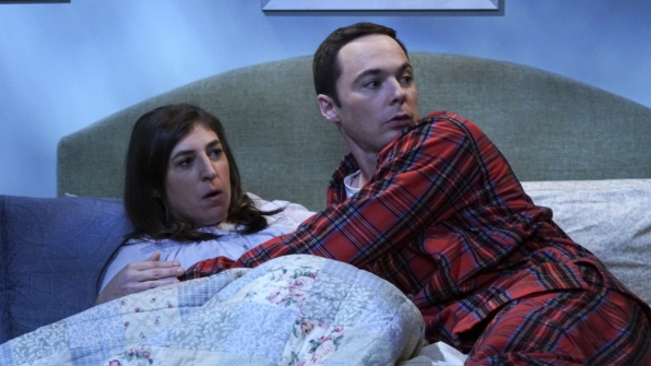 Sheldon and Amy's coitus plans are interrupted.