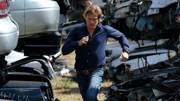MacGyver runs for his life.