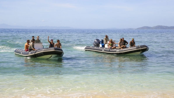 This season's highly anticipated merge brings all 13 castaways together.