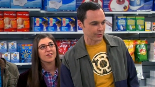 Sheldon Cooper's Sinestro Corps logo shirt from The Big Bang Theory