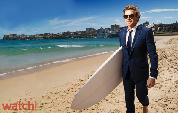 25. Simon Baker - Surfing - The Mentalist