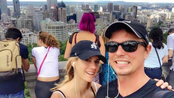 Darin Brooks enjoyed Montreal with his wife, Kelly Kruger, while she filmed a movie.