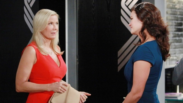 Brooke is overwhelmed with guilt when Katie expresses how indebted she is to her sister.