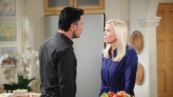 Brooke makes a vow to herself regarding Bill and Katie.