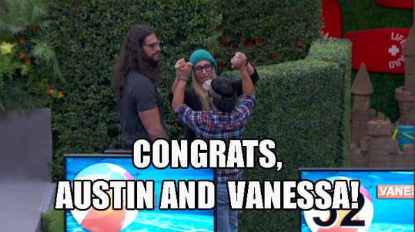 6. Austin and Vanessa win Gronk's HoH competition.