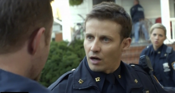 Will Estes as Jamie Reagan and Vanessa Ray as Edit Jenko