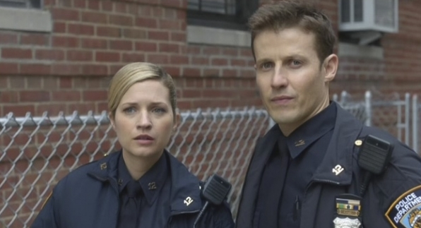 Vanessa Ray as Edit Jenko and Will Estes as Jamie Reagan