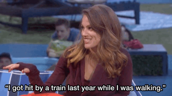 5. Becky's trainwreck story.