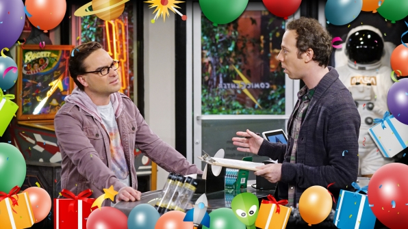 Leonard and Stuart talk about planning the perfect party for Sheldon.