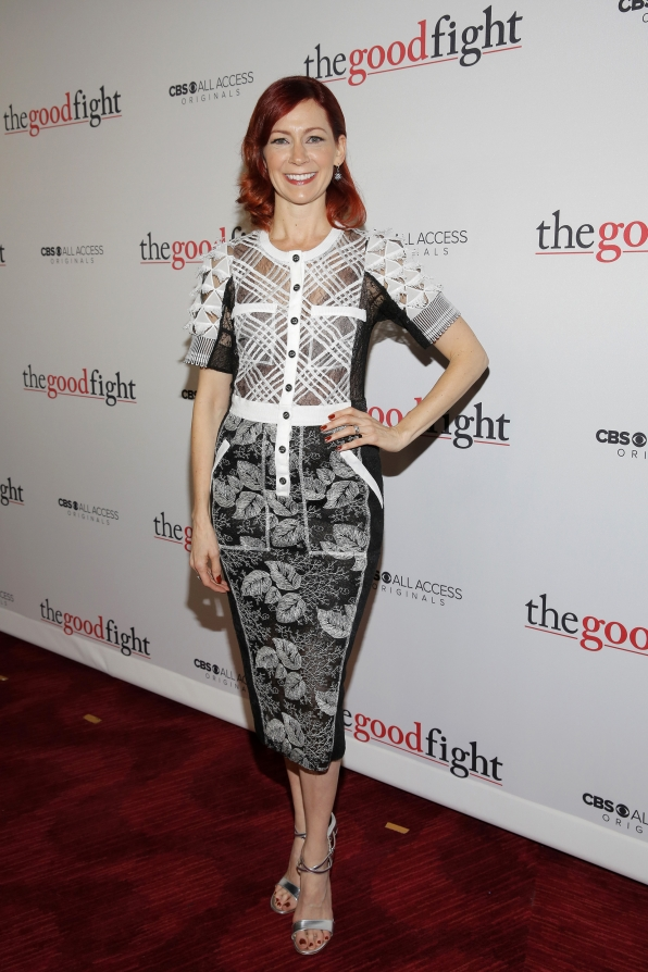 Carrie Preston combines patterns perfectly in this short-sleeved tartan and floral dress.