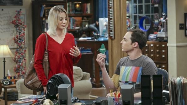 Sheldon shows off his tiny pine tree.