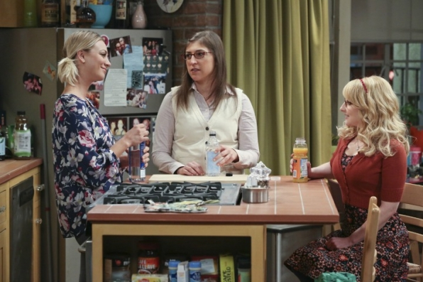 Penny, Amy, and Bernadette discuss the joys of pregnancy.