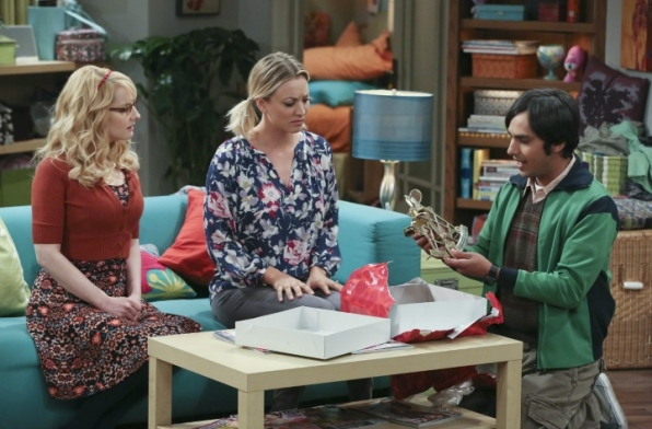 Raj opens a belated Valentine's Day gift from his ex-girlfriend.