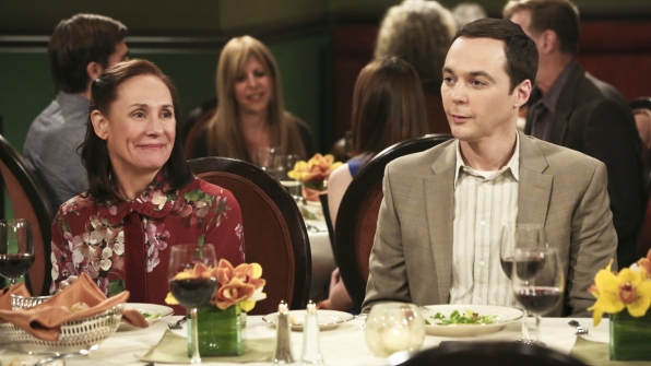 Sheldon joins in conversation.