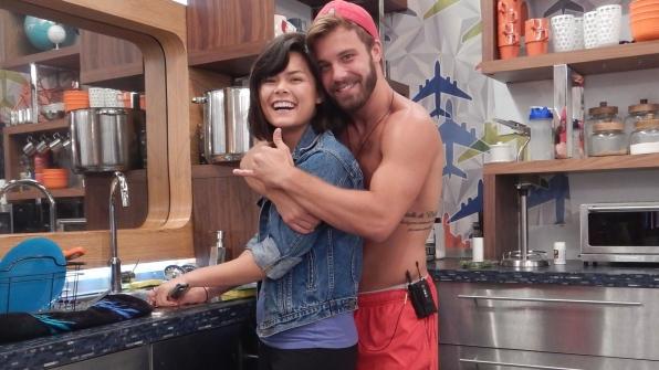 Paulie wraps Bridgette in his arms.