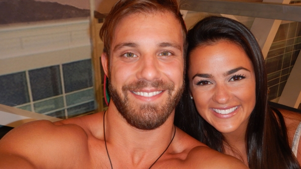 Paulie and Natalie put their amazing tans and dazzling smiles on display.