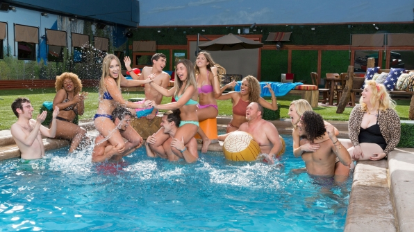 The new Big Brother: Over the Top Houseguests splash around in the pool in this exclusive BB:OTT photograph.