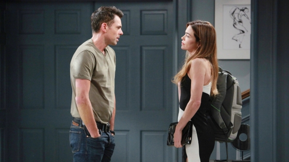Billy confronts Victoria about her personal life.