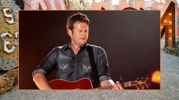 We wouldn't mind dancing with Blake Shelton cheek-to-whiskered-cheek.