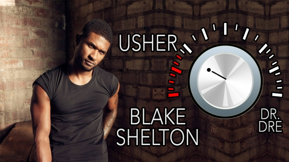 "Blake Shelton performed ""Home"" with Usher at a benefit concert."