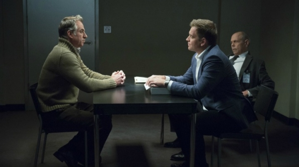 Harry Van Gorkum as Alton Brinkman, Michael Weatherly as Anthony DiNozzo, and Joe Spano as FBI Special Agent Tobias Fornell
