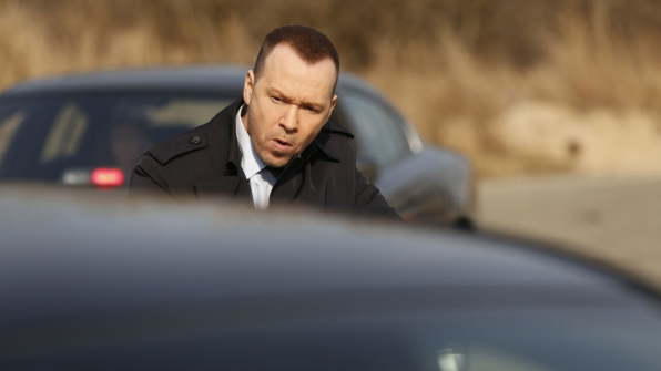 Detective Danny Reagan approaches a troubling situation.