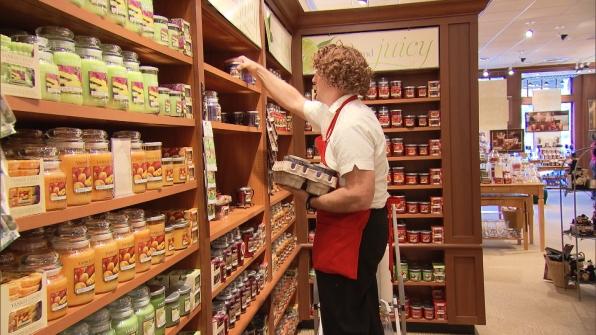 The Boss Stocking the Shelves