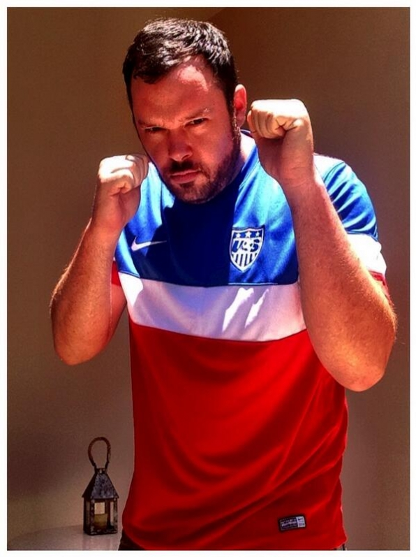 3. He wears his US Soccer Team colors proudly