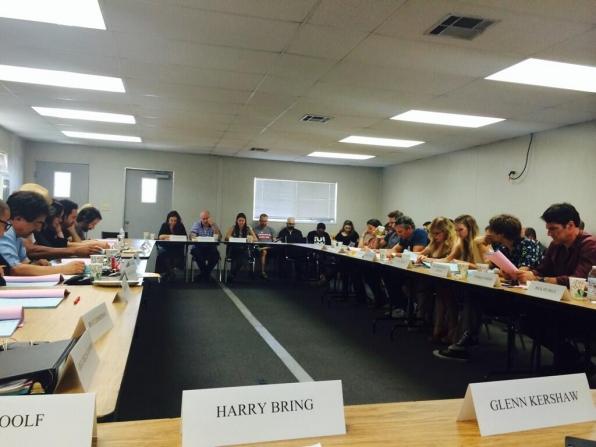 Twitter @LLPOS (Harry Bring):  1st table read