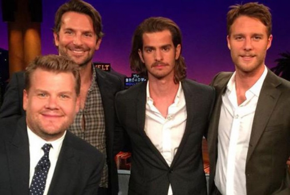 Jake McDorman hanging with his <i>Limitless</i> cohort Bradley Cooper, plus Andrew Garfield