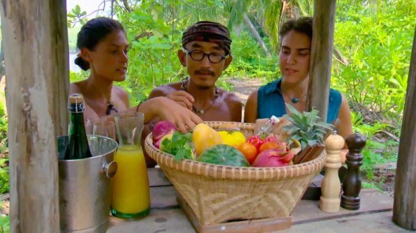 8. Tai, Aubry, and Michele enjoy their final day on the beach.